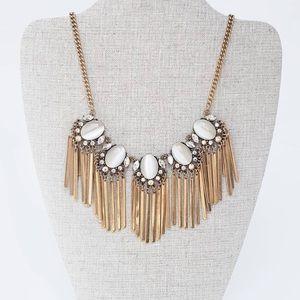 Golden Tassel Fringe Necklace